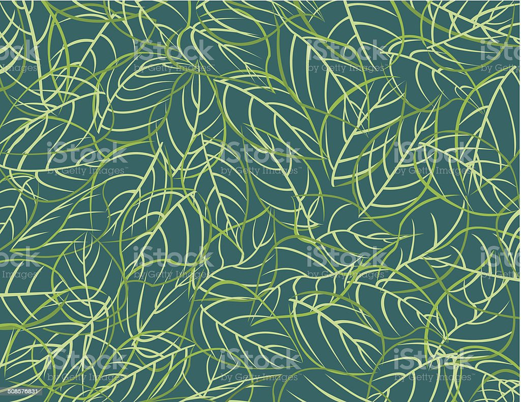 Pattern leafs / Feuilles vector art illustration