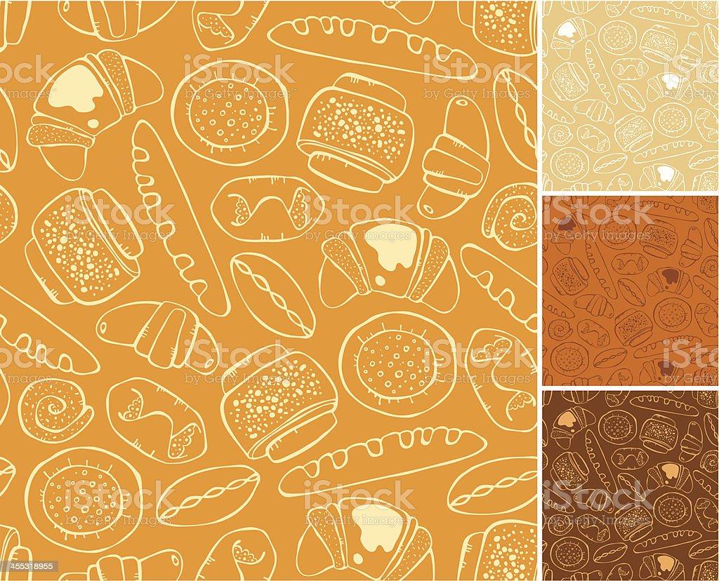 pattern of baking vector art illustration