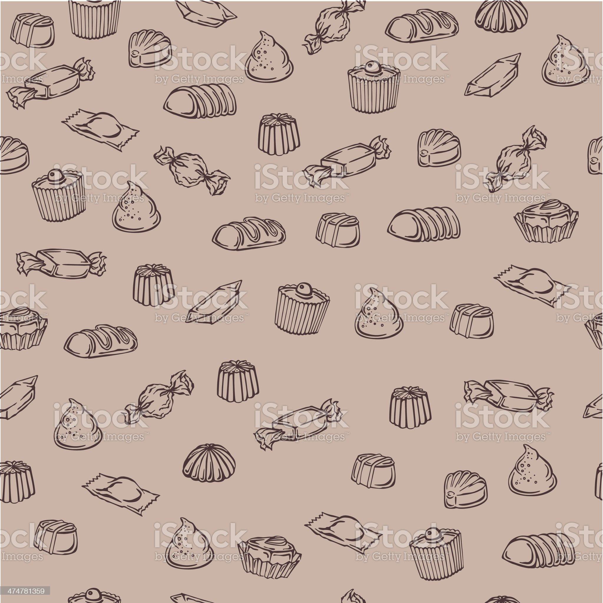 pattern of chocolates royalty-free stock vector art