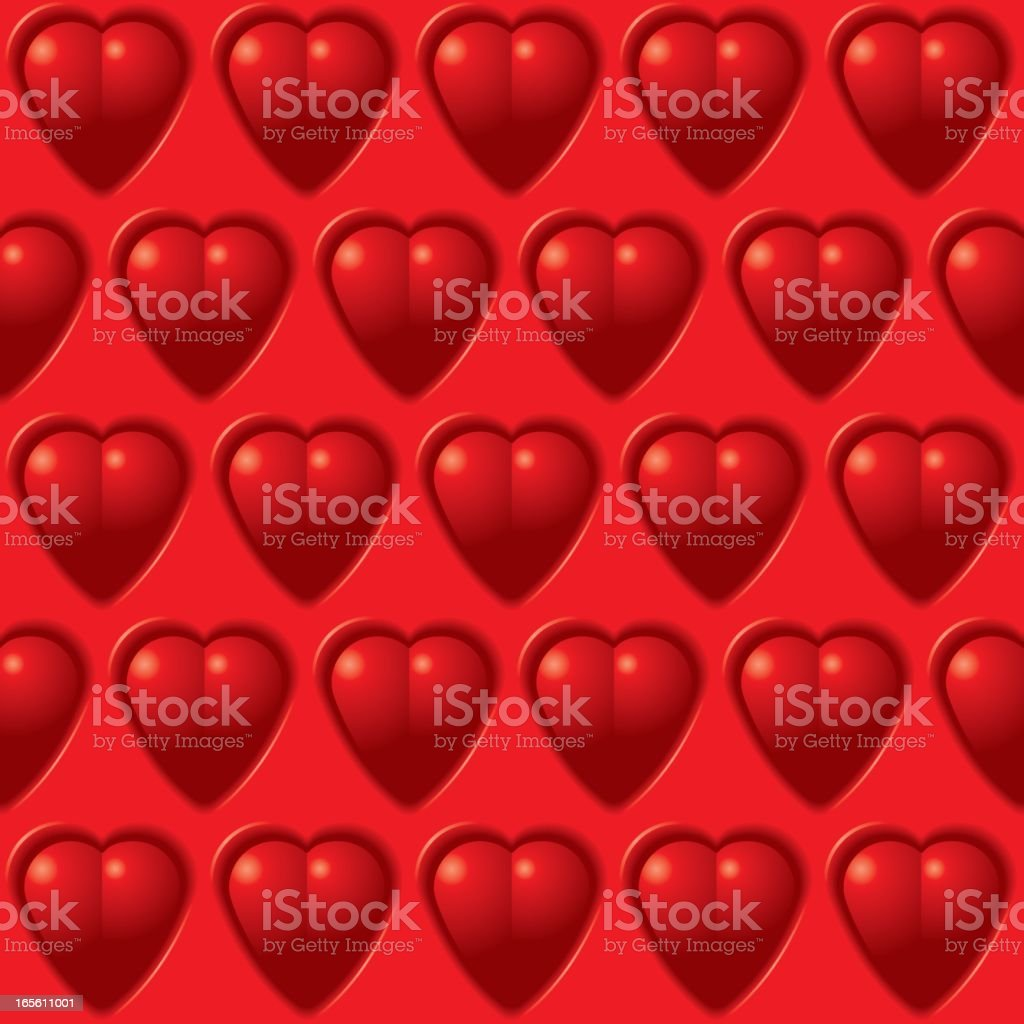pattern of hearts royalty-free stock vector art