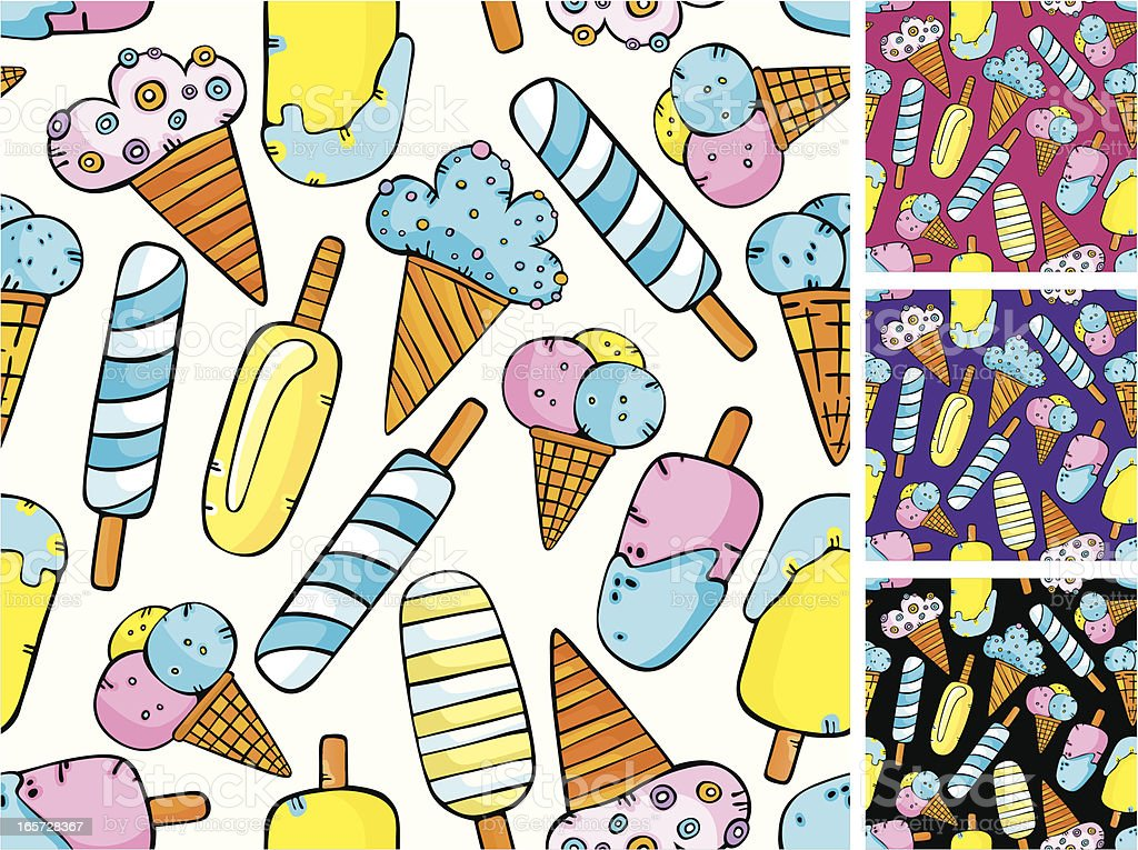 Pattern of ice-creams royalty-free stock vector art