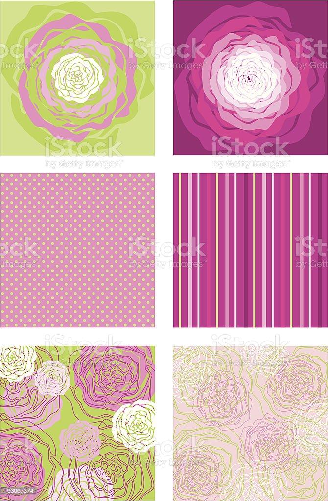 Pattern of Rose vector art illustration