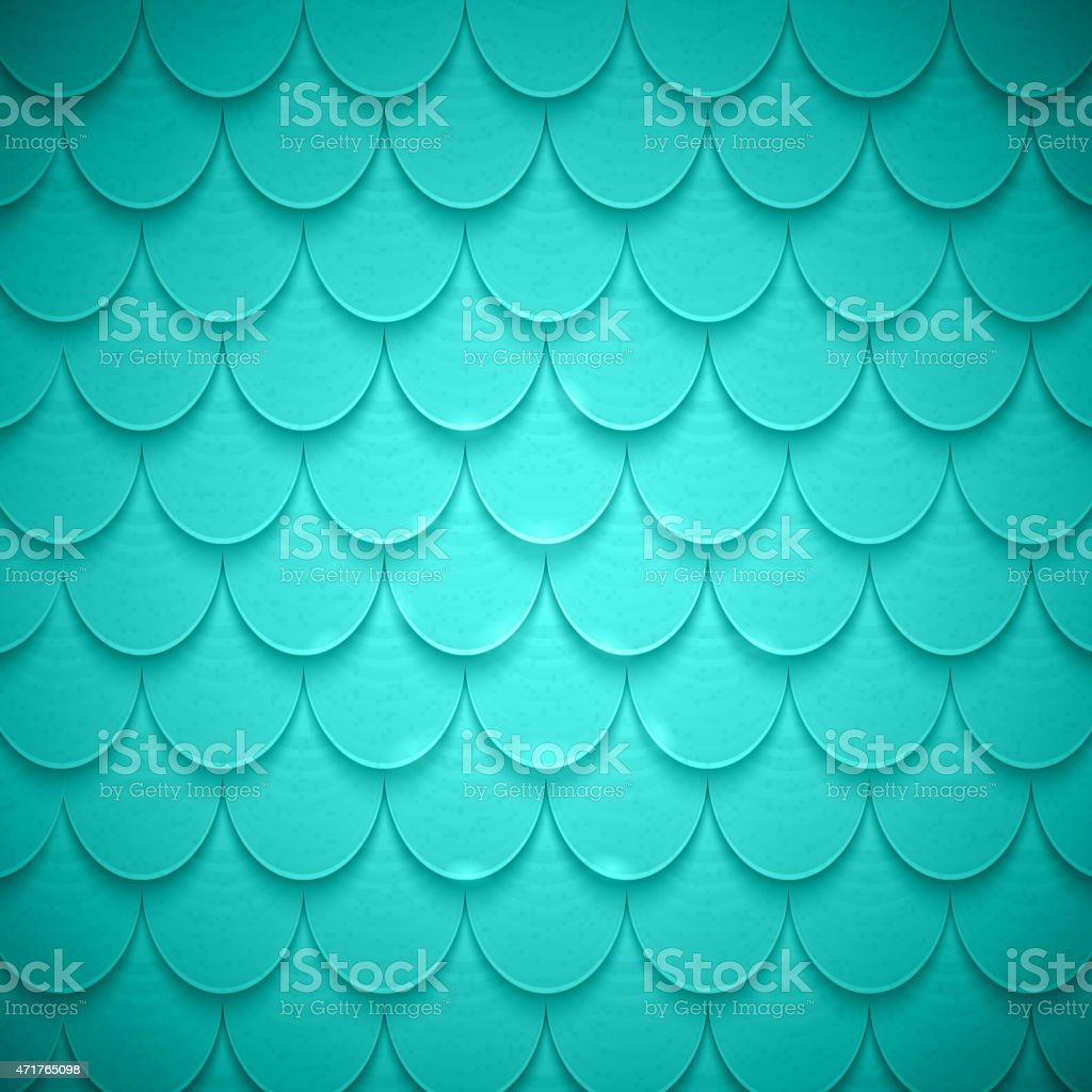Pattern of semicircles in squama style. vector art illustration