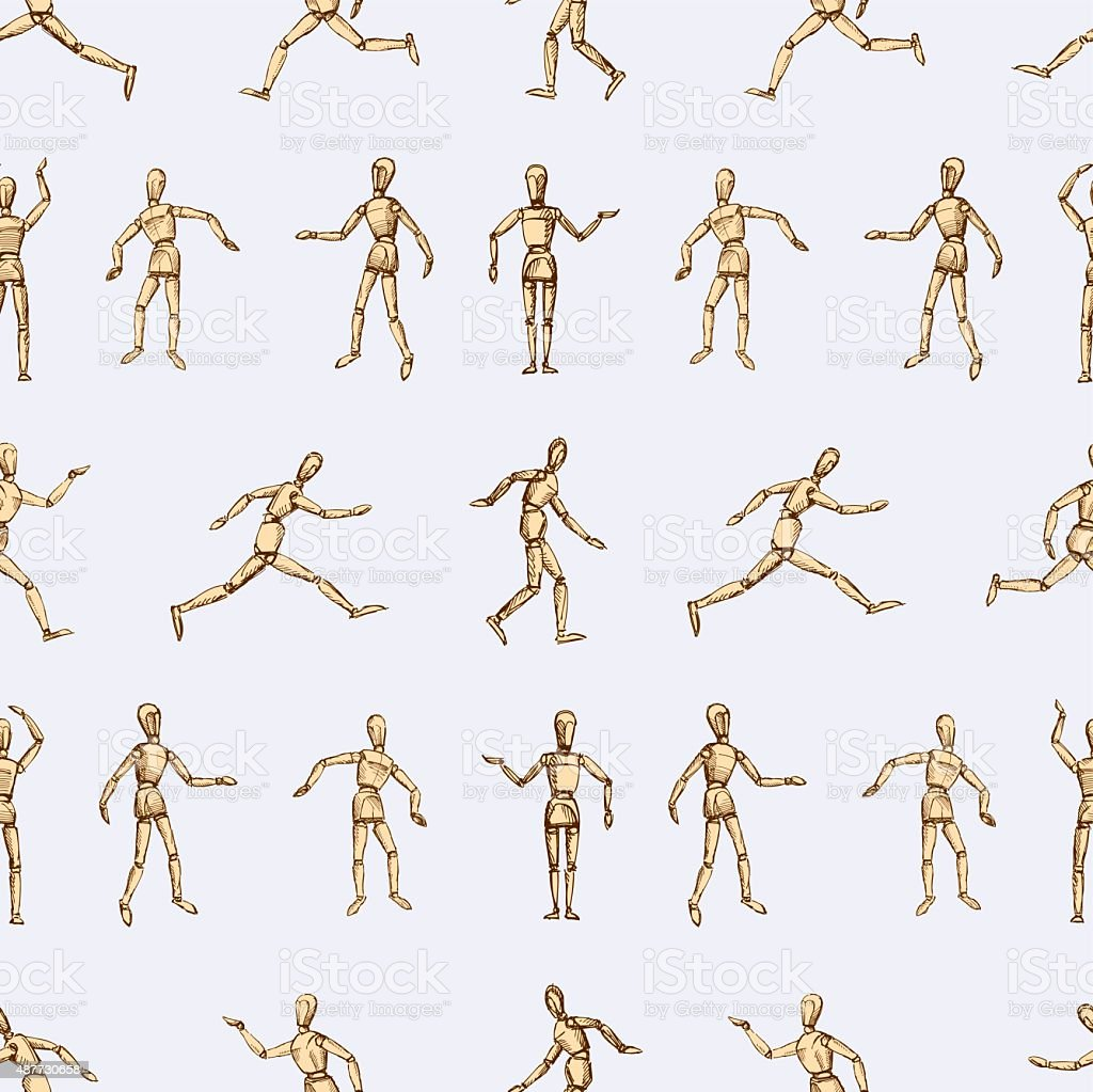 pattern of the dummy vector art illustration