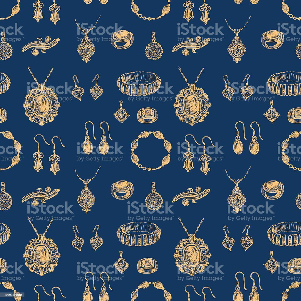 pattern of the jewelry vector art illustration