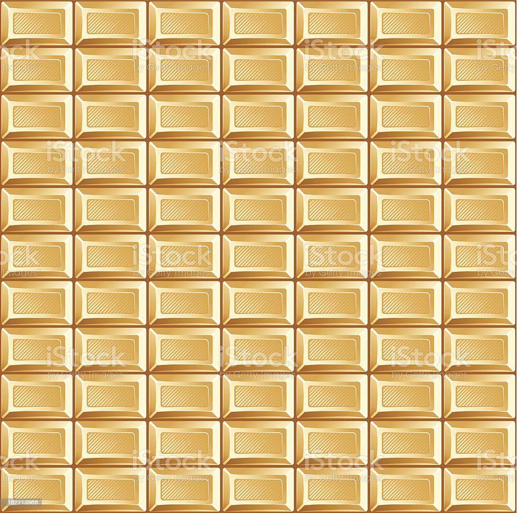 pattern of white chocolate bars royalty-free stock vector art