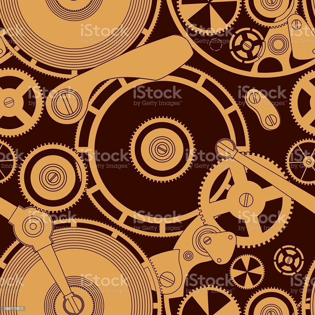 Pattern on the theme of the Time. vector art illustration