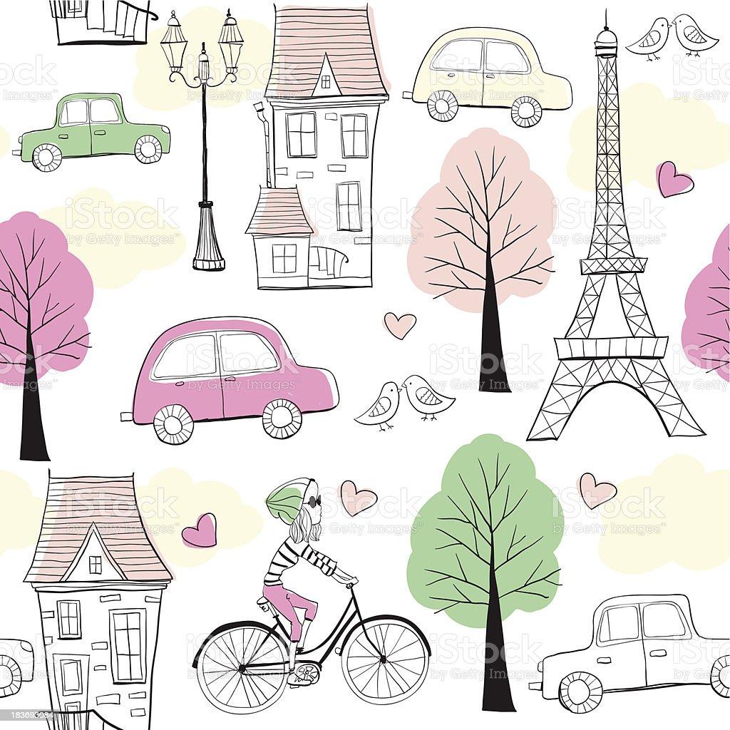 pattern Paris royalty-free stock vector art