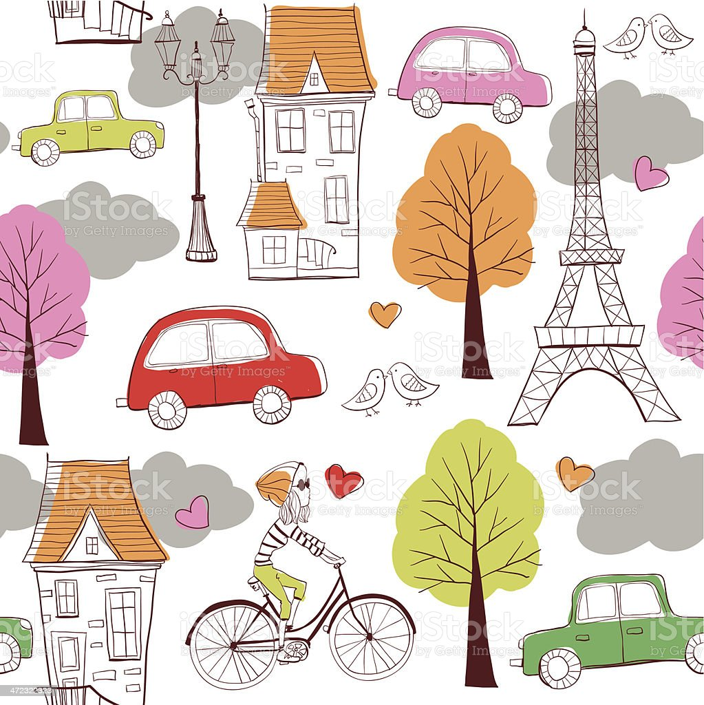 pattern Paris royalty-free stock vector art