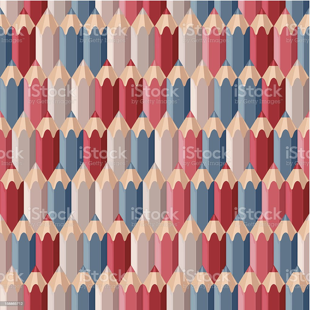pattern pastel pencils royalty-free stock vector art