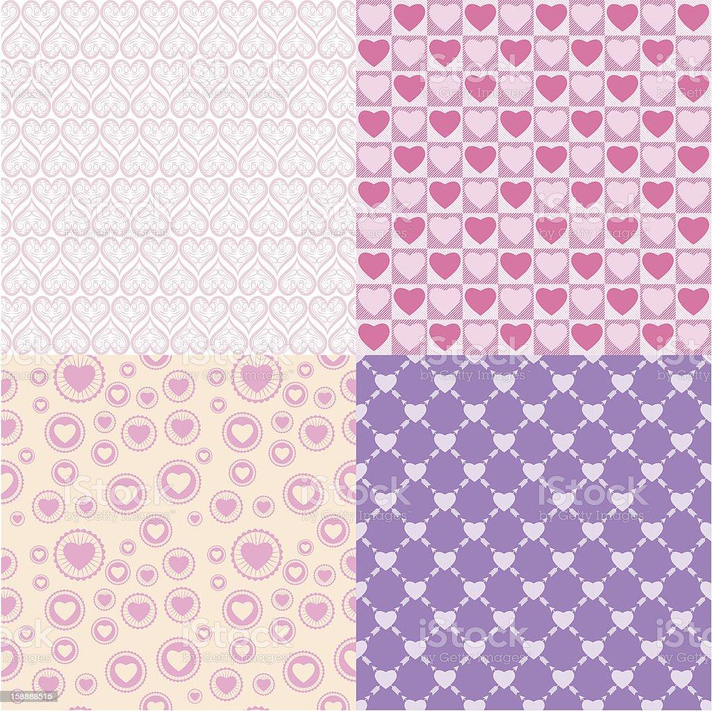 Pattern romantic stock photo