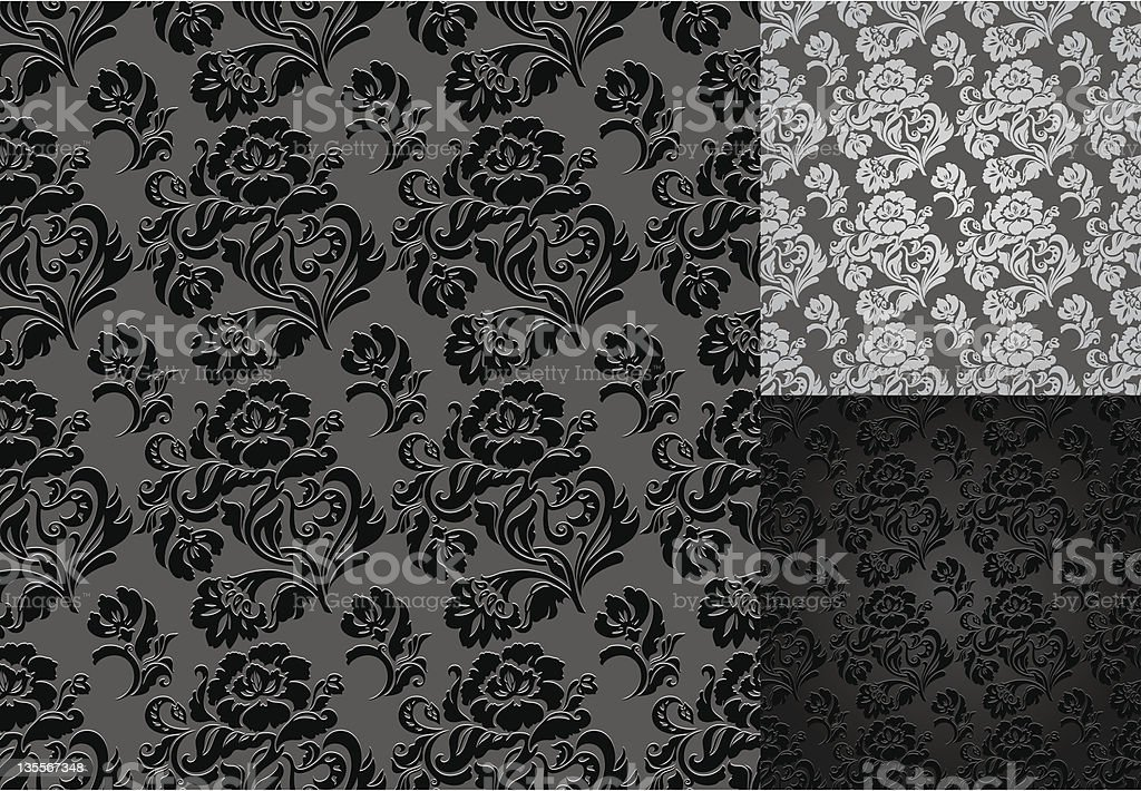 Pattern seamless, decorative background, floral ornament royalty-free stock vector art