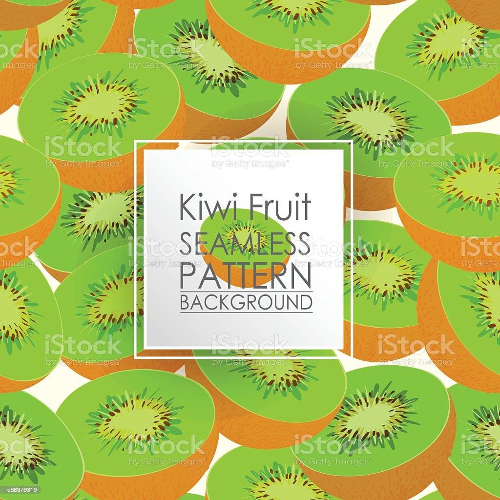 Pattern Seamless Kiwi fruit background. vector art illustration