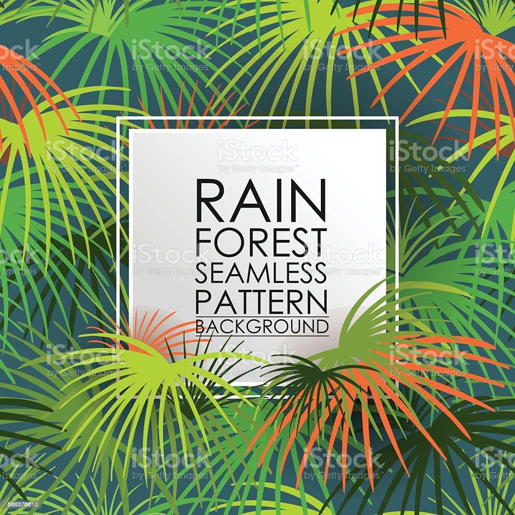 Pattern seamless rain forest background. vector art illustration