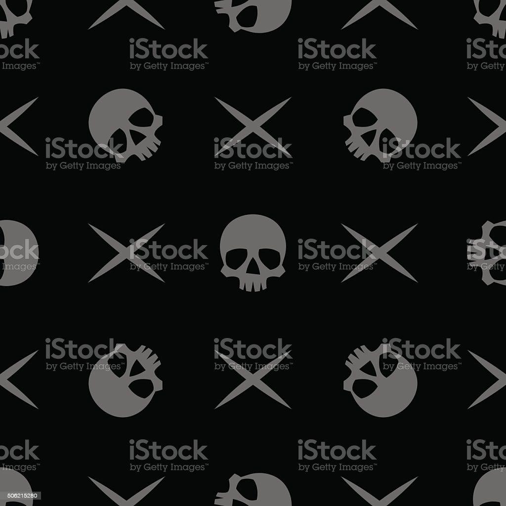pattern skull  bone cross vector art illustration