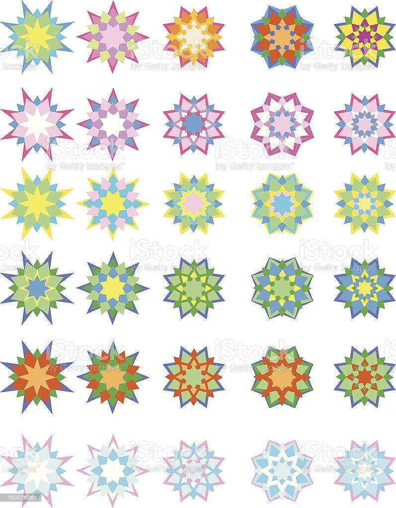 Pattern star royalty-free stock vector art