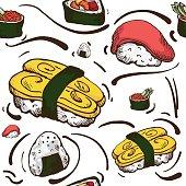 pattern sushi wallpaper