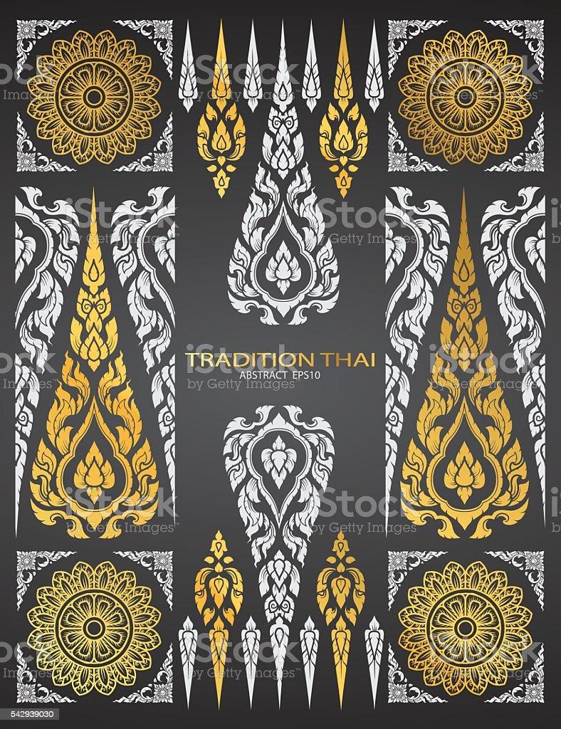 pattern thai tradition vector vector art illustration