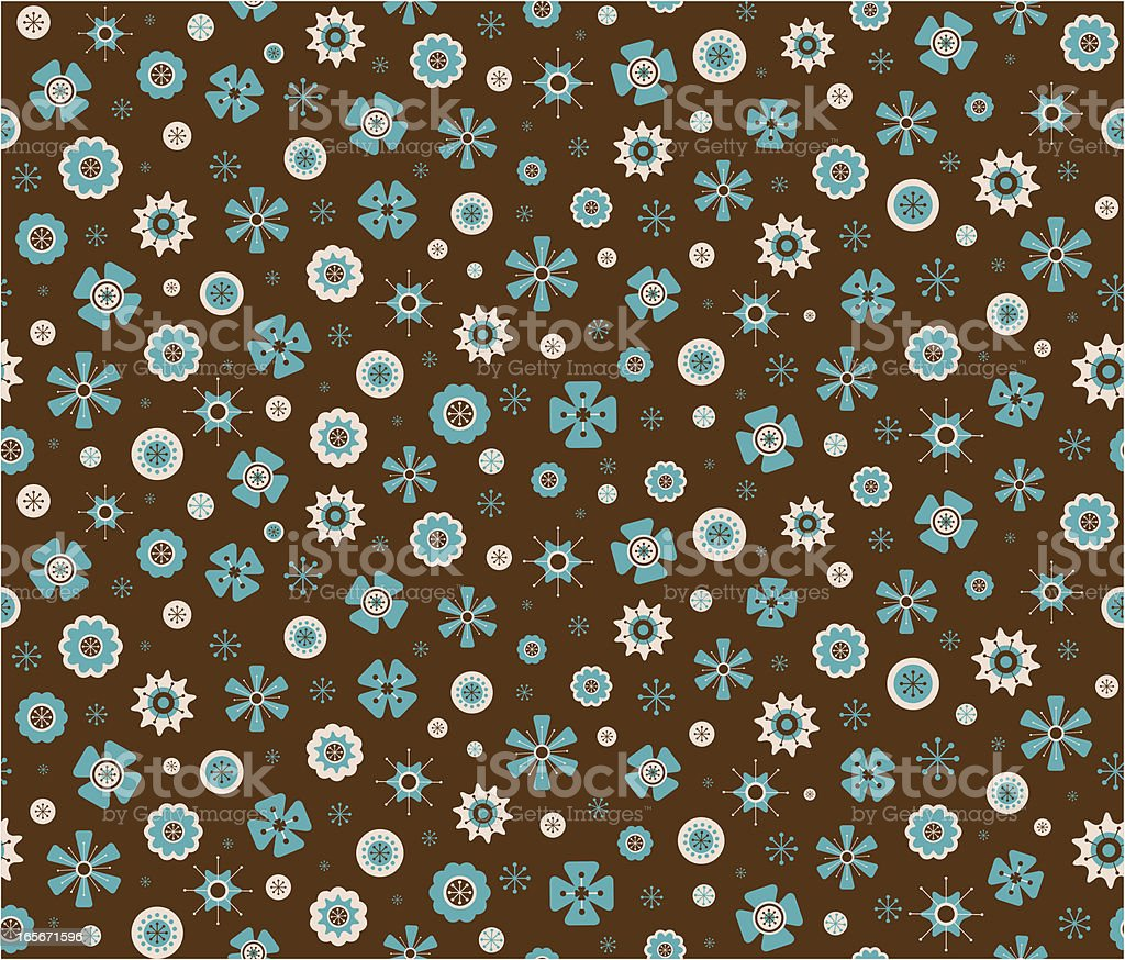 pattern with abstract flowers royalty-free stock vector art
