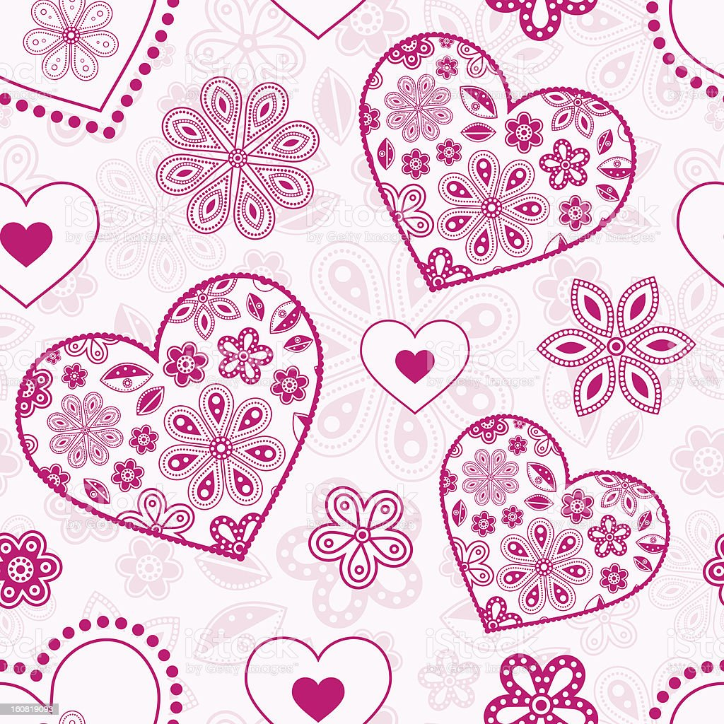 pattern with abstract hearts royalty-free stock vector art