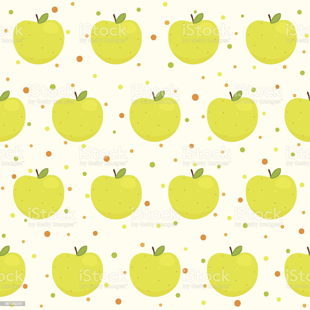 Pattern with apples vector art illustration