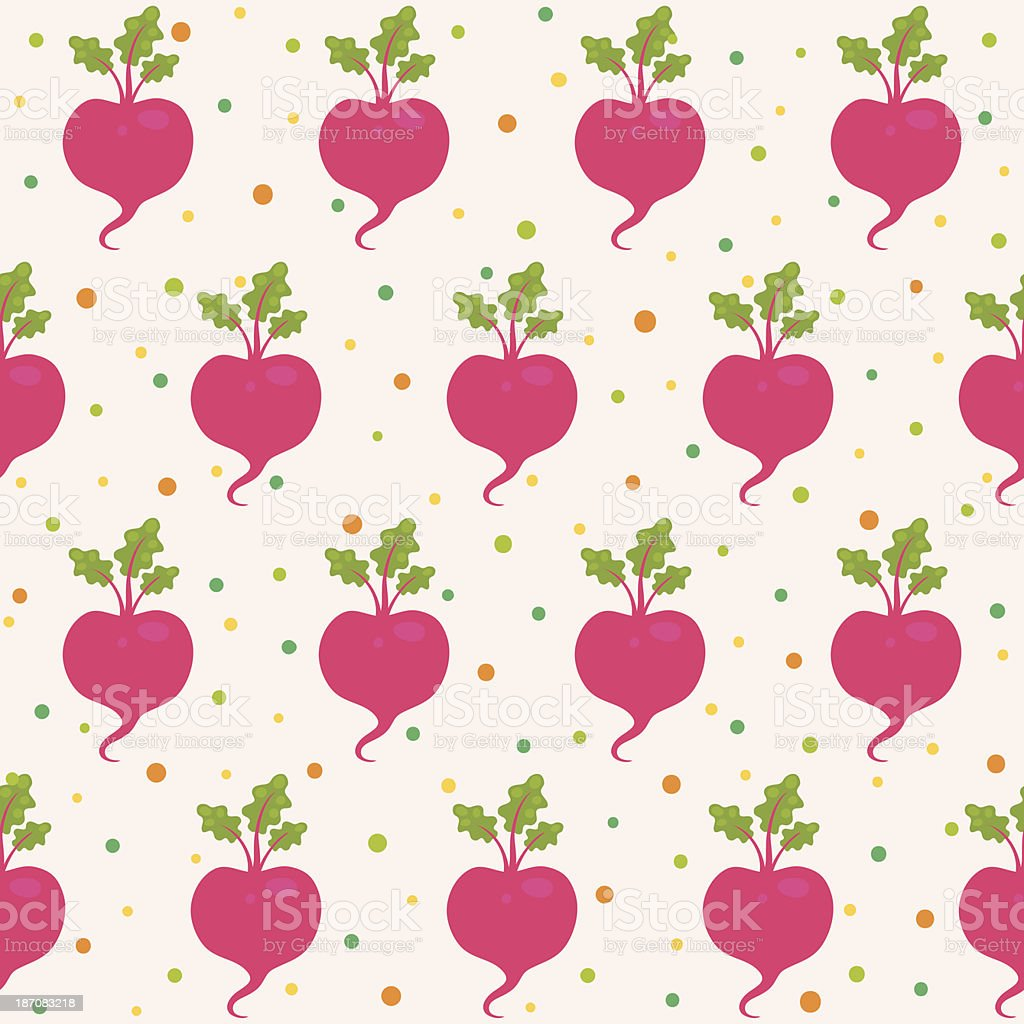Pattern with beetroot vector art illustration