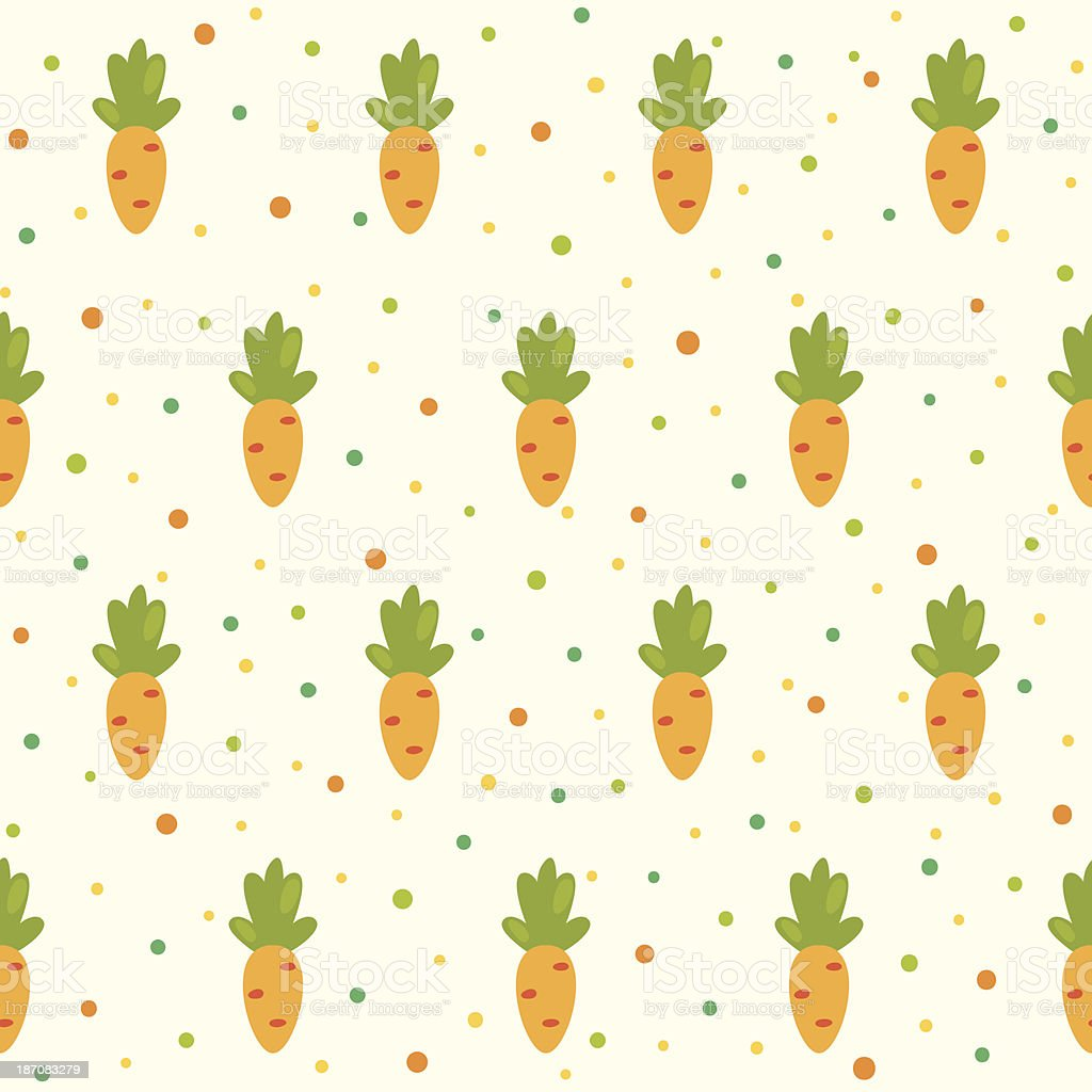 Pattern with carrots vector art illustration