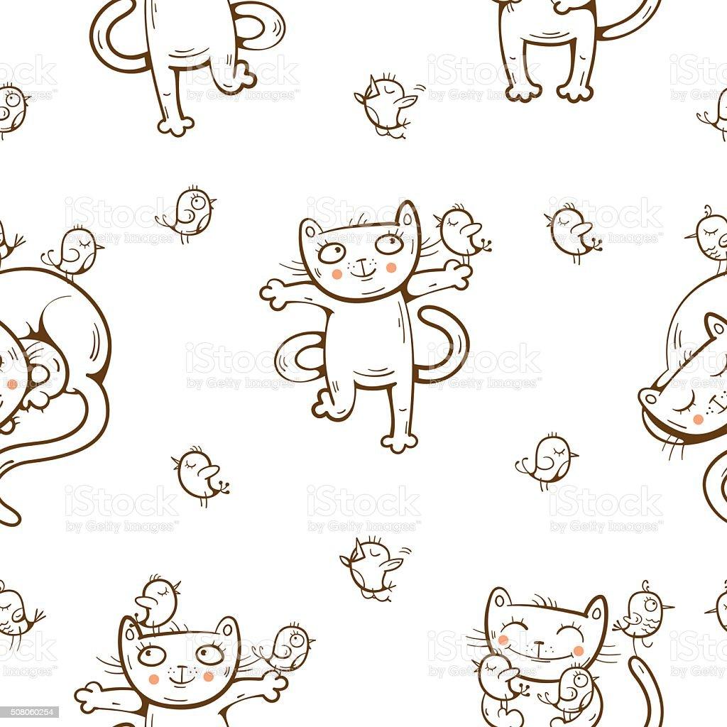 Декор стен трафаретами кошек (41 фото)