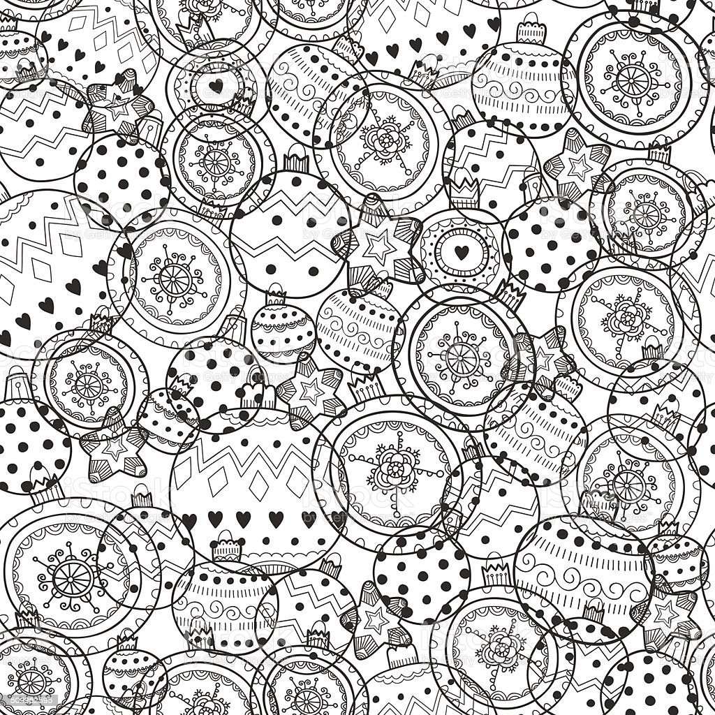 Pattern With Christmas Balls royalty-free stock vector art