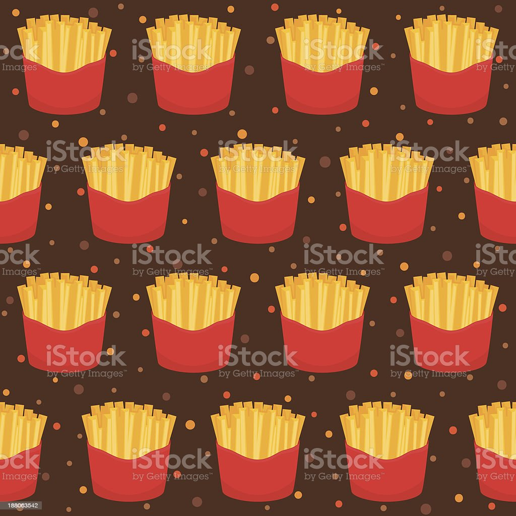 Pattern with french fries royalty-free stock vector art