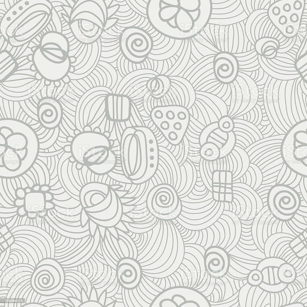 pattern with little cute things royalty-free stock vector art