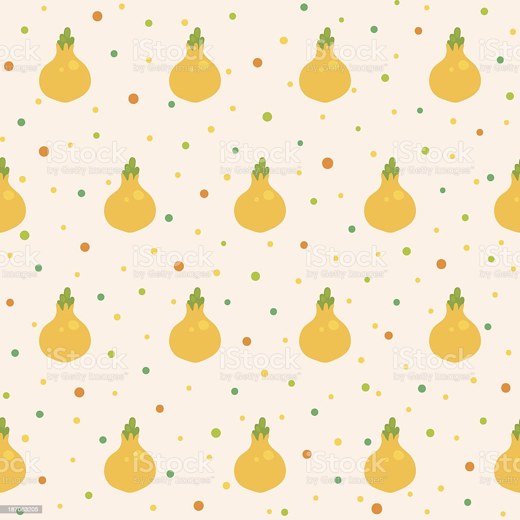 Pattern with onion vector art illustration