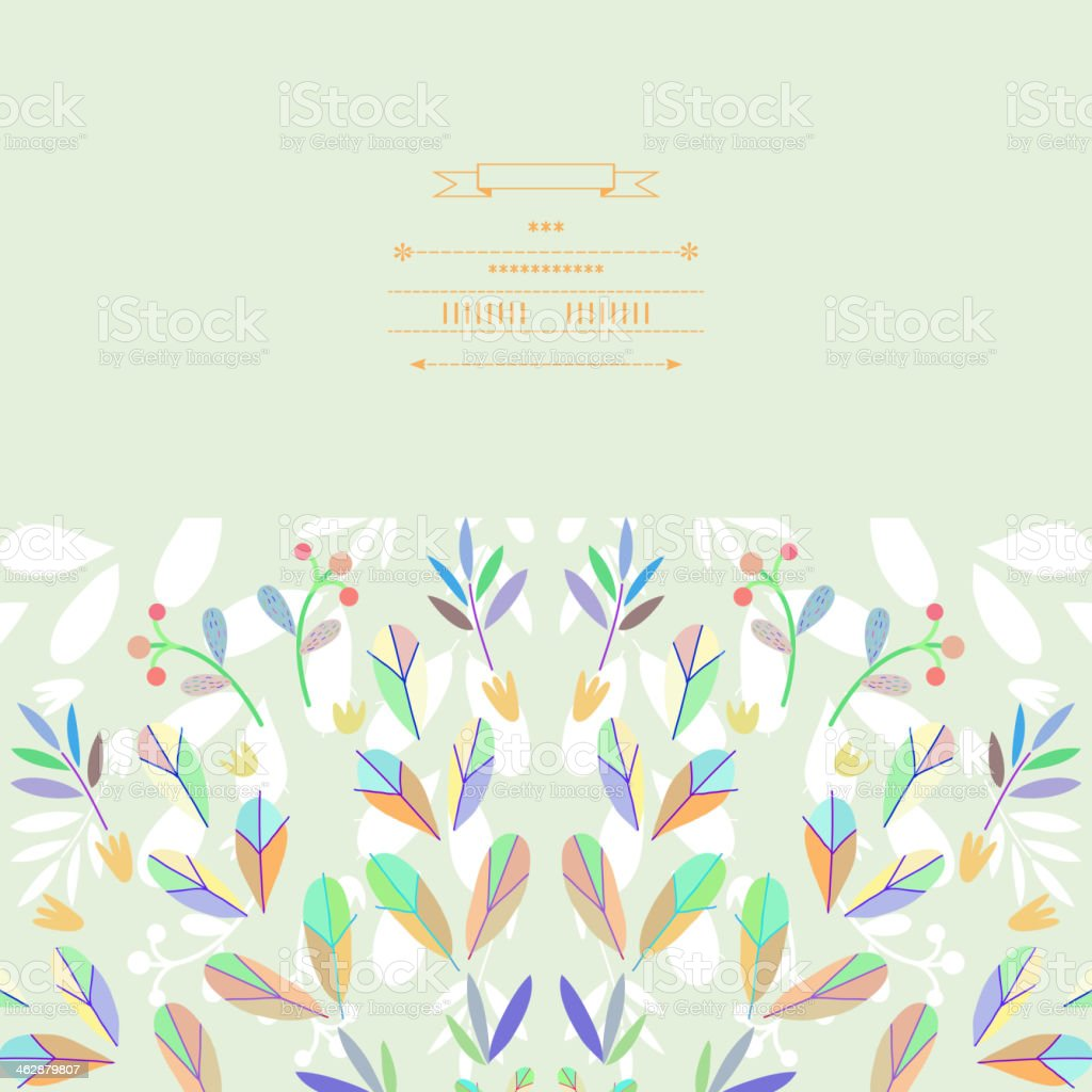 Pattern with vegetative elements in vector royalty-free stock vector art
