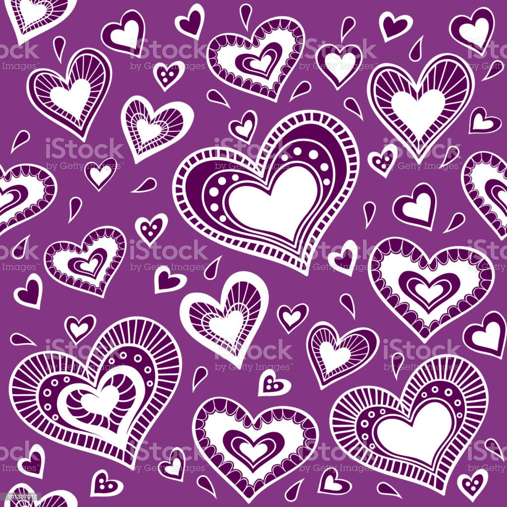 Pattern_purple heart royalty-free stock vector art
