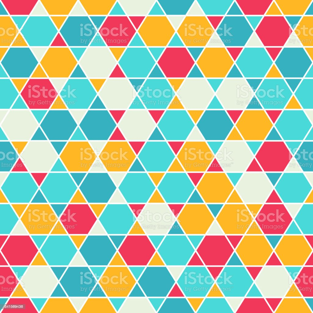 Patterned six-rays star background vector art illustration