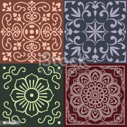 Traditional China Patterns patterns of china traditional style stock vector art 484669001