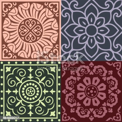 Traditional China Patterns patterns of china traditional style stock vector art 484669017