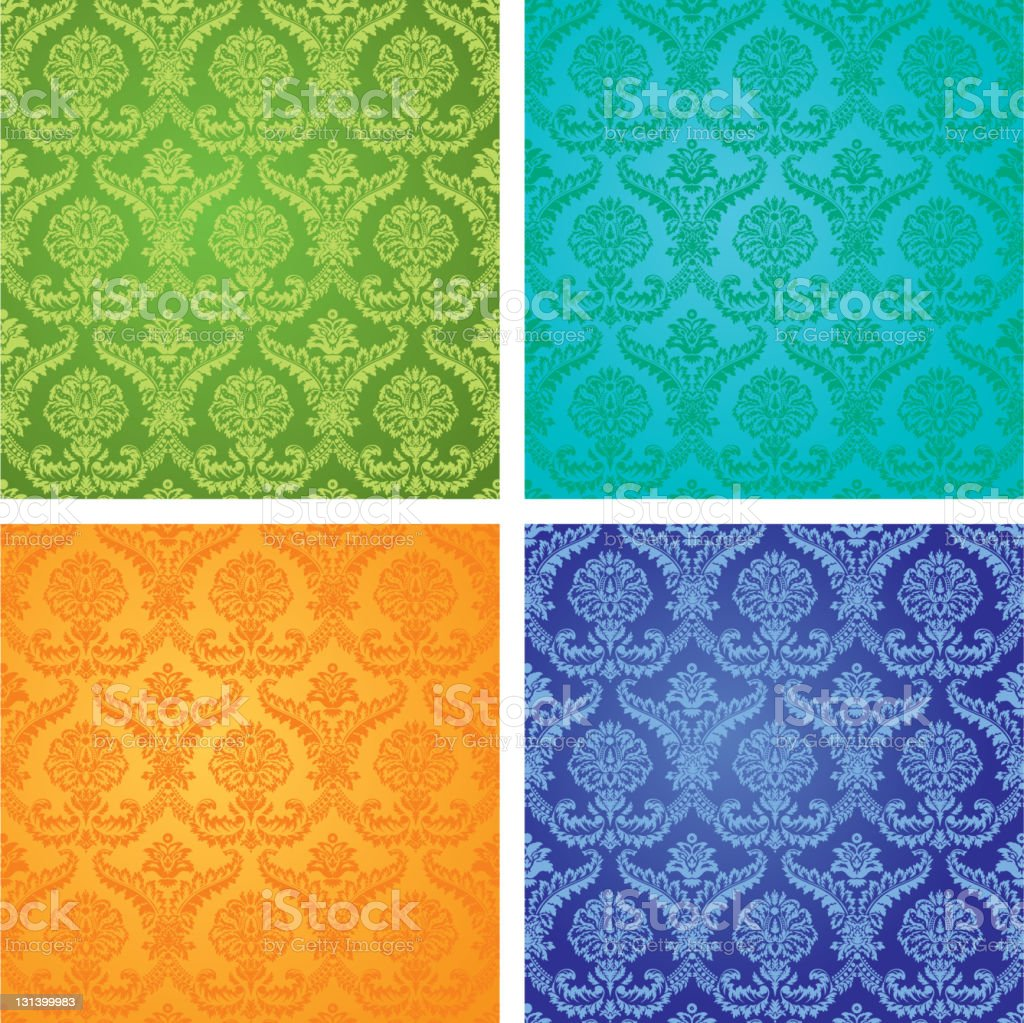 patterns on the wallpaper royalty-free stock vector art