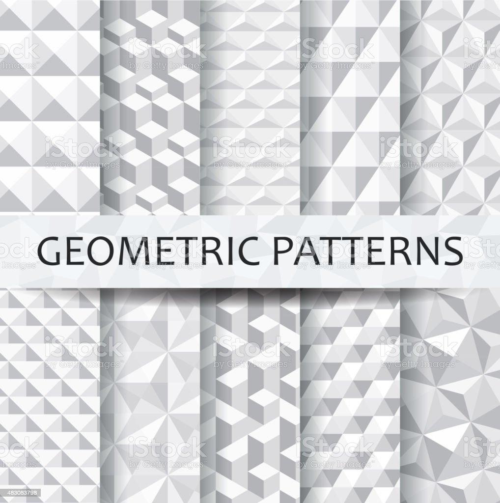 Patterns set vector art illustration