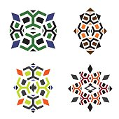 Patterns to create the turtles, African and ethnic motives
