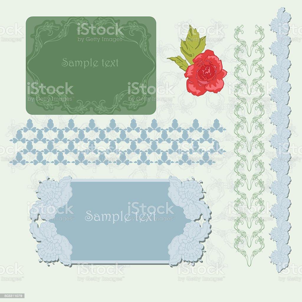 Patterns vector art illustration