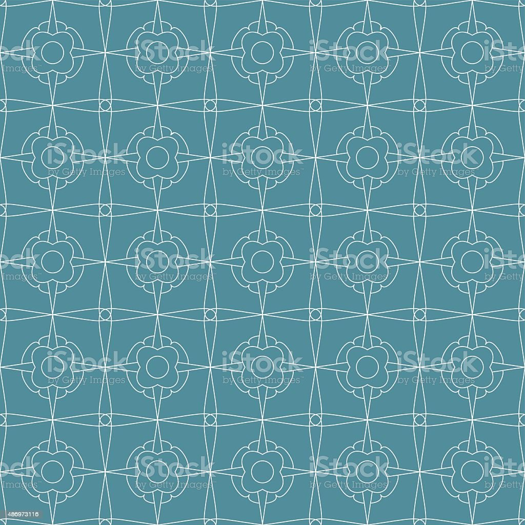 pattrn mesh with flowers vector art illustration