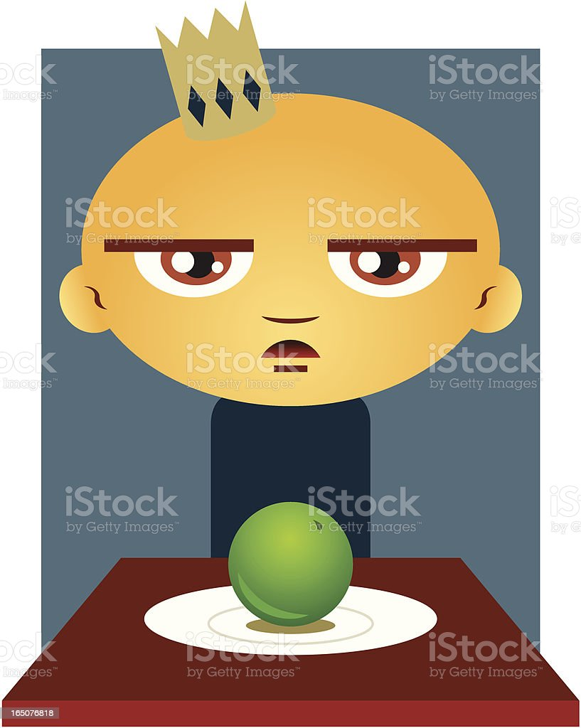 Paul and his Pea royalty-free stock vector art
