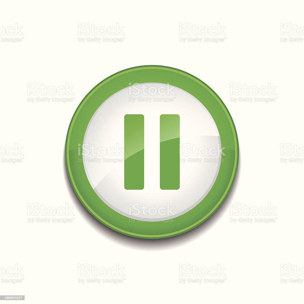 Pausr Sign Circular Green Vector Button Icon vector art illustration