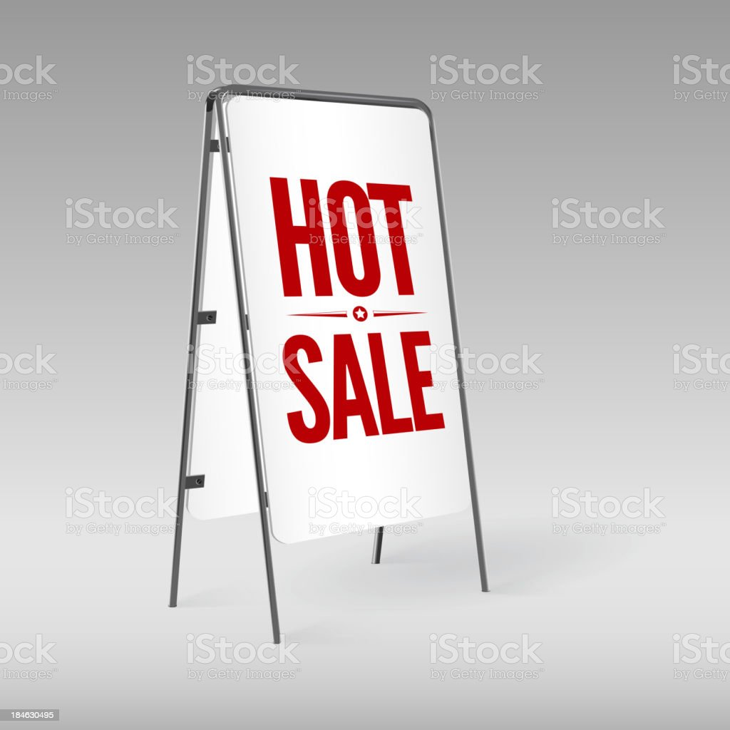 Pavement sign with the text Hot sale royalty-free stock vector art