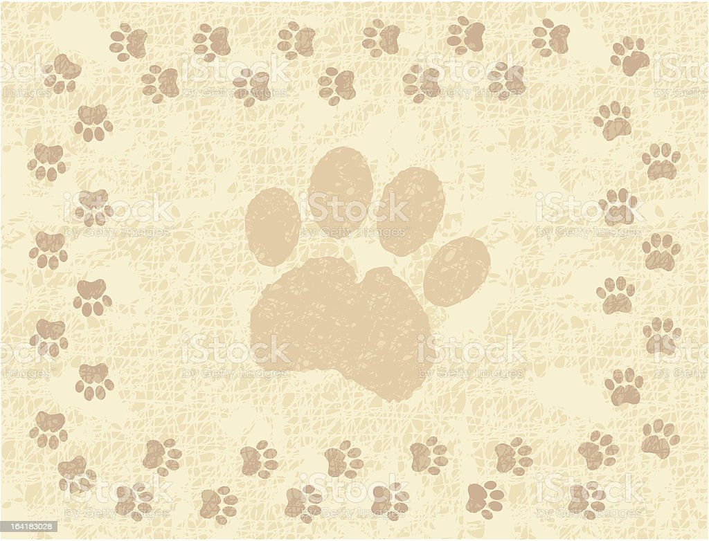 Paw Print Border royalty-free stock vector art