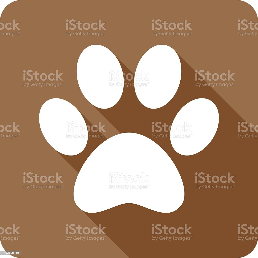 Paw Print Icon Silhouette vector art illustration