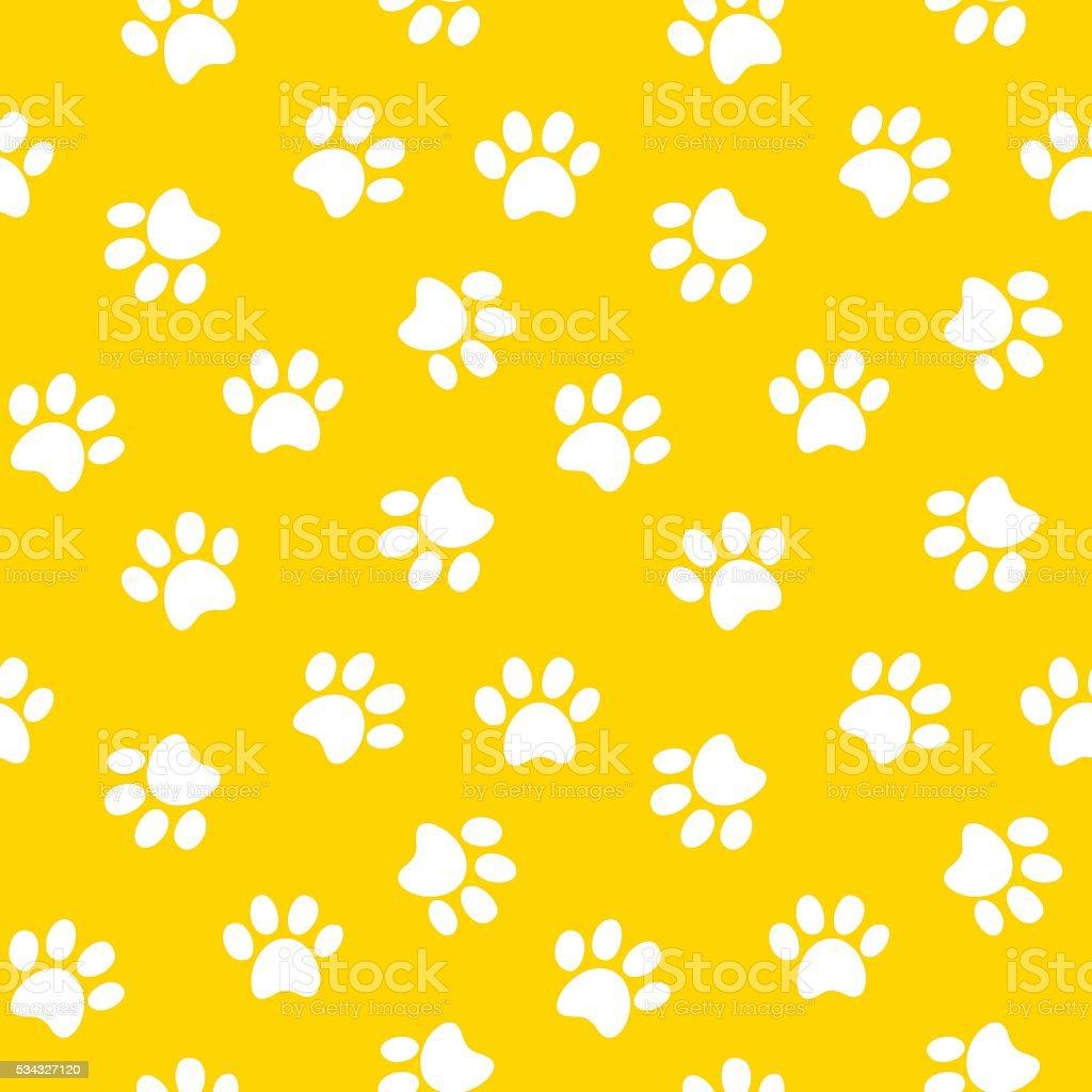 paw print seamless pattern vector art illustration