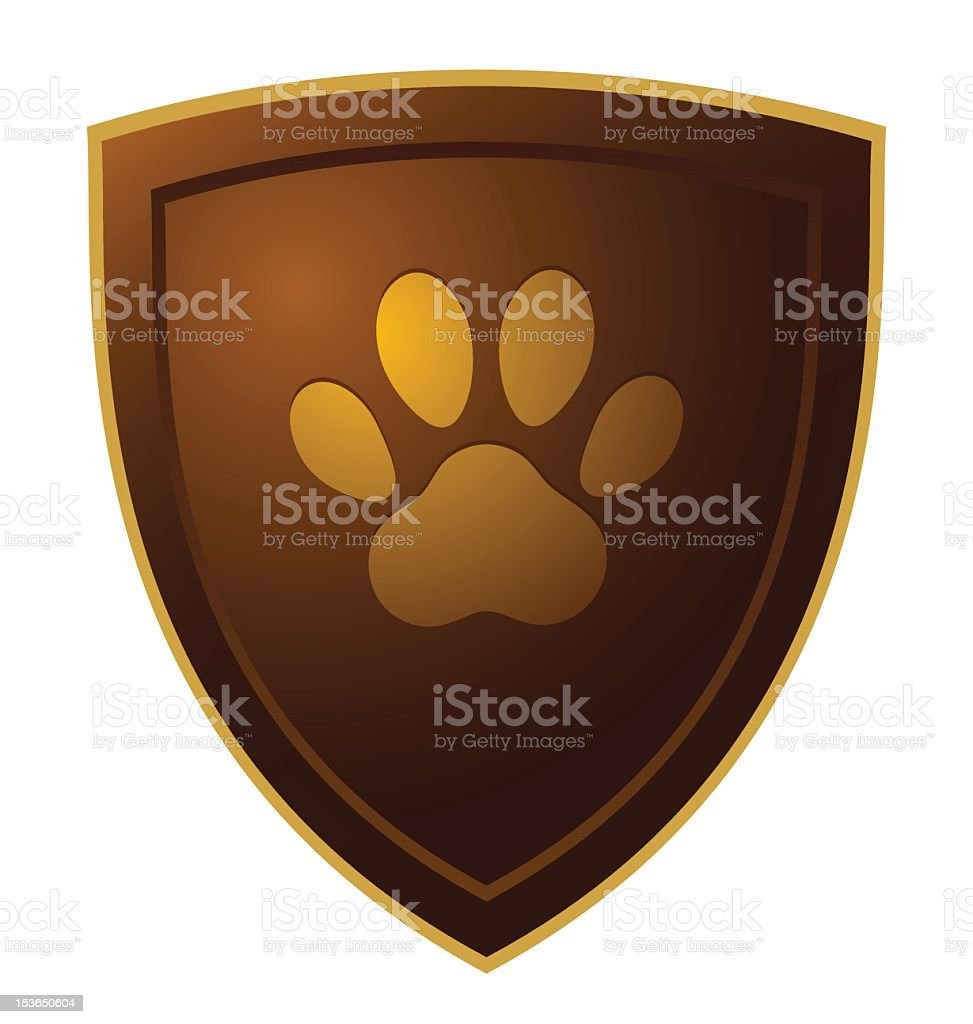 paw shield royalty-free stock vector art