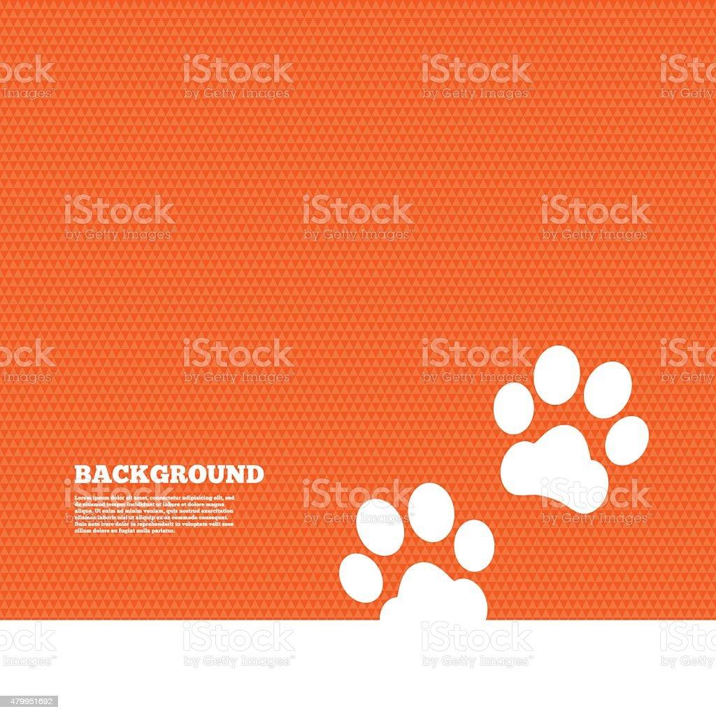 Paw sign icon. Dog pets steps symbol vector art illustration
